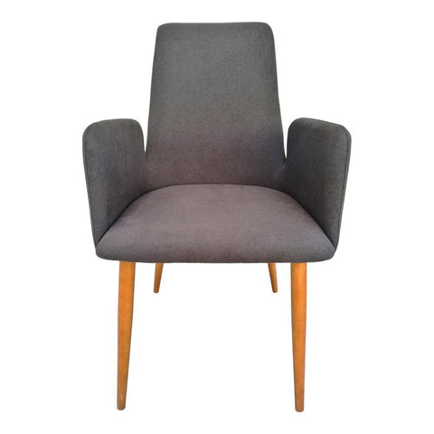 Moes Home Chesney Dining Chair in Charcoal Grey