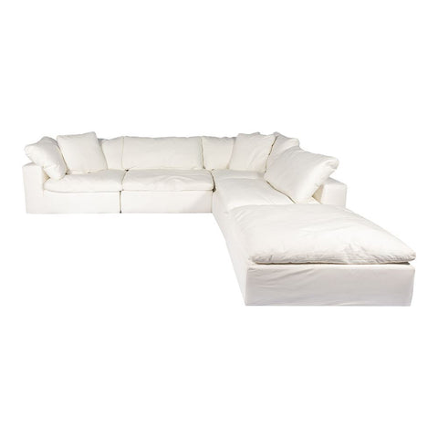 Moes Home Clay Dream Modular Sectional Livesmart Fabric Cream