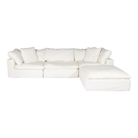 Moes Home Clay Lounge Modular Sectional Livesmart Fabric Cream