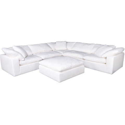 Moes Home Clay Modular Sectional Livesmart Fabric Cream
