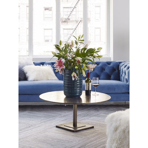 Moes Home Cooper Coffee Table in Brass