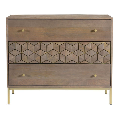 Moes Home Corolla Three Drawer Chest