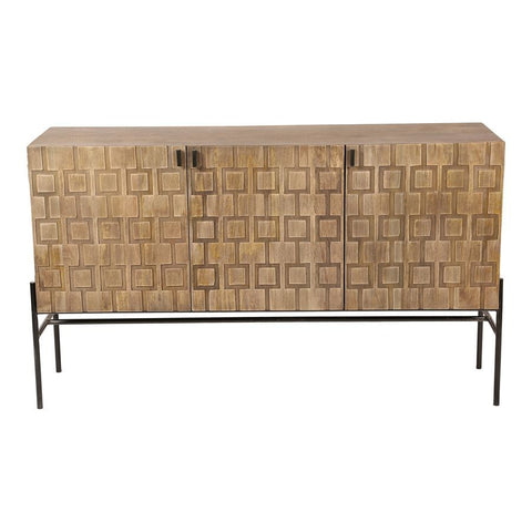 Moes Home Dixie Sideboard in Grey