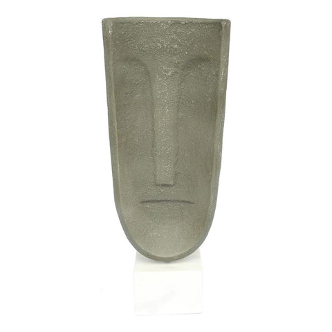 Moes Home Ecomix Abstract Face Sculpture in Light Grey