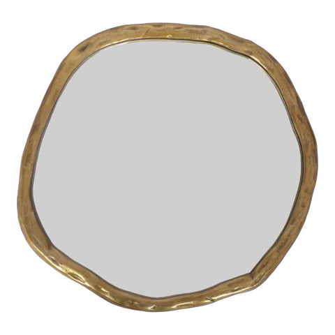 Moes Home Foundry Mirror Small Gold