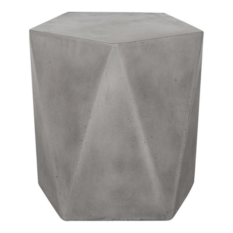 Moes Home Gem Outdoor Stool in Dark Grey