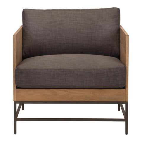 Moes Home Girona Arm Chair in Dark Grey