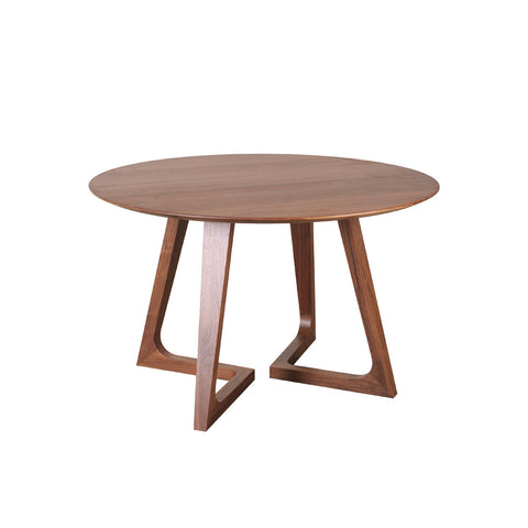 Moes Home Godenza Dining Table Round Walnut