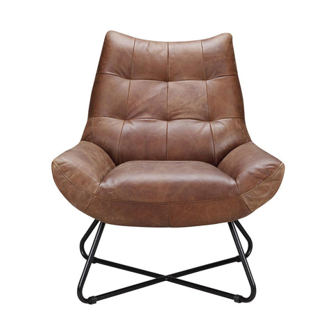 Moes Home Graduate Lounge Chair in Cappuccino