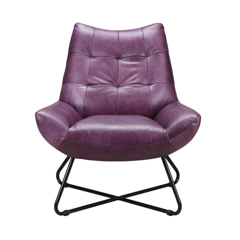 Moes Home Graduate Lounge Chair in Purple