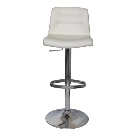 Moes Home Hep Adjustable Stool in White