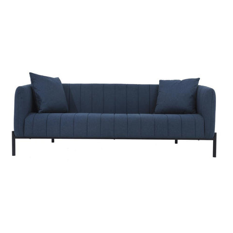 Moes Home Jaxon Sofa in Dark Blue