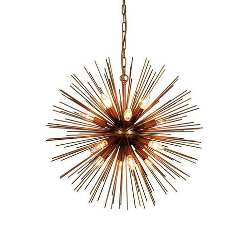 Moes Home Kepler Pendant Lamp in Brass