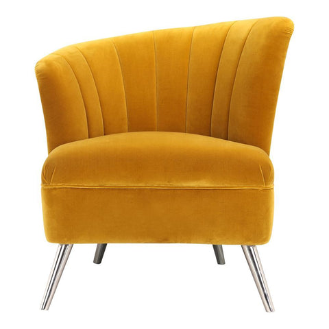 Moes Home Layan Accent Chair Left Yellow