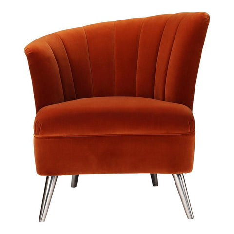Moes Home Layan Accent Chair Left in Orange
