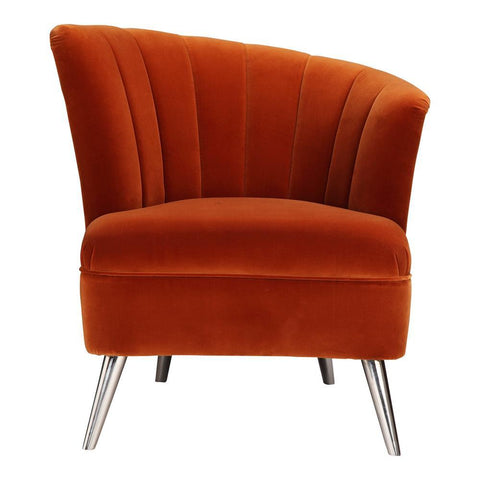 Moes Home Layan Accent Chair Right in Orange