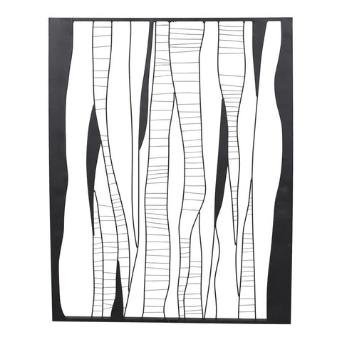 Moes Home Metal Waves 1 Wall Decor in Black