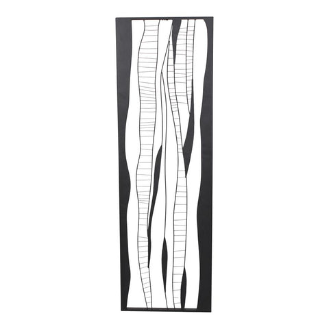 Moes Home Metal Waves 2 Wall Decor in Black