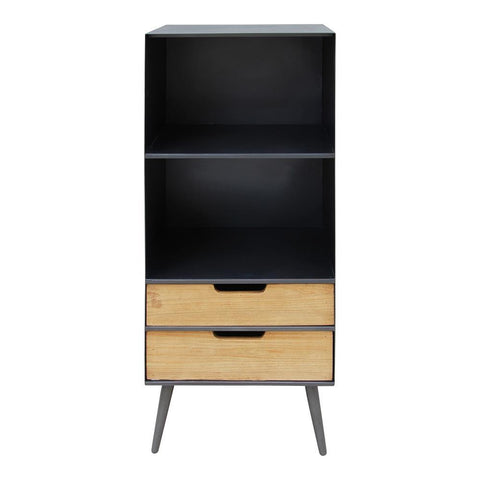 Moes Home Milner Two Level Bookshelf in Black