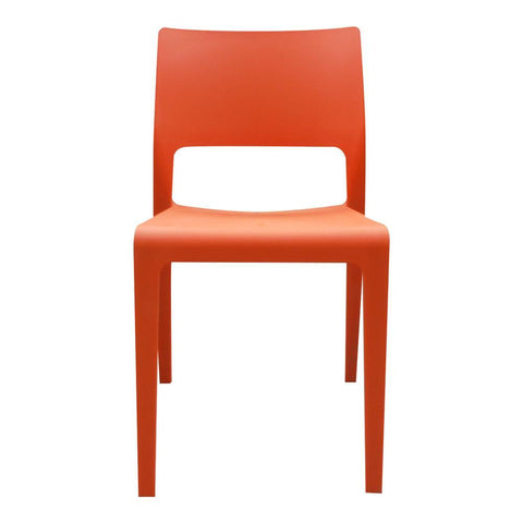 Moes Home Morrill Dining Chair in Orange - Set Of Two