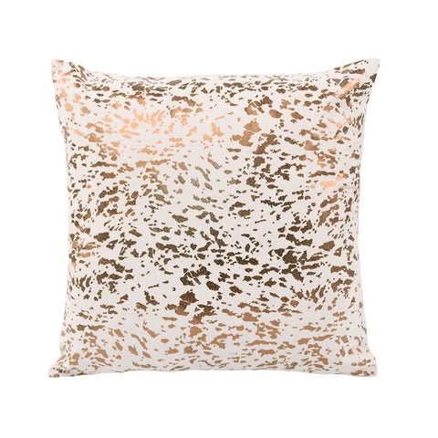 Moes Home Napolean Leather Cushion In Gold
