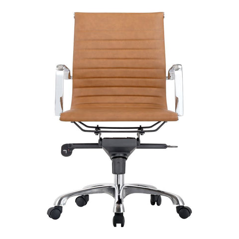 Moes Home Omega Swivel Office Chair Low Back Tan