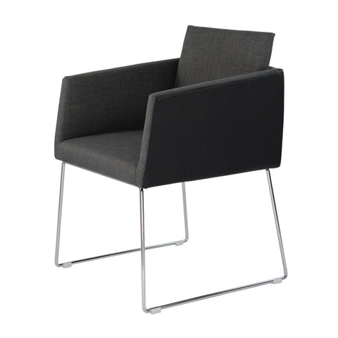 Moes Home Park Arm Chair in Black