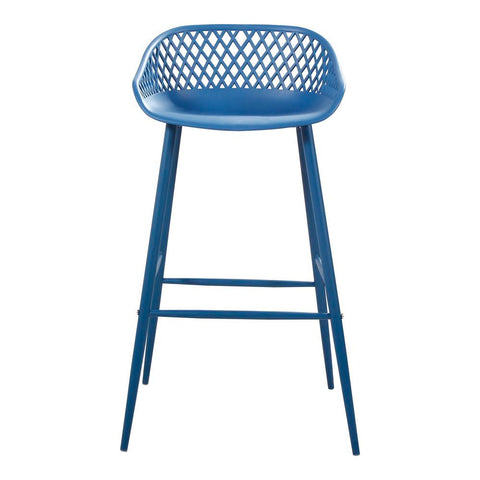 Moes Home Piazza Outdoor Barstool Blue-Set Of Two