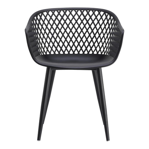 Moes Home Piazza Outdoor Chair in Black