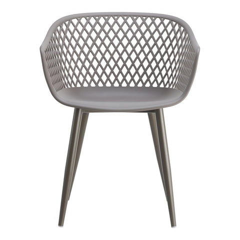 Moes Home Piazza Outdoor Chair in Grey