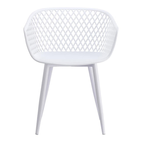 Moes Home Piazza Outdoor Chair in White