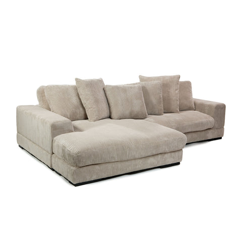 Moes Home Plunge Sectional in Cappucino