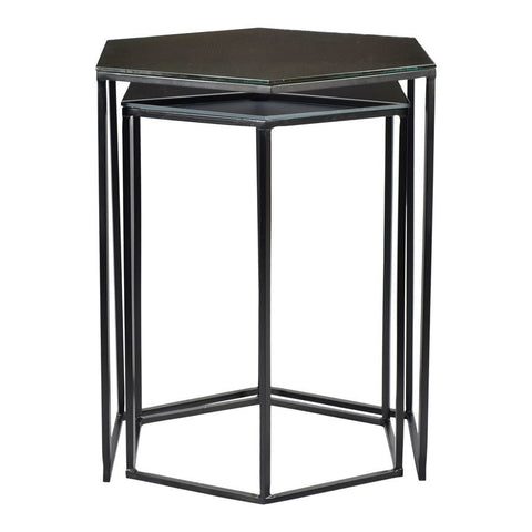 Moes Home Polygon Accent Tables Set Of Two in Black