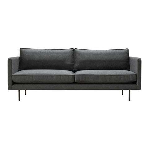 Moes Home Raphael Sofa Anthracite in Charcoal Grey