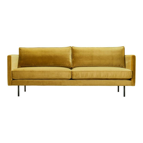 Moes Home Raphael Sofa Mustard in Yellow