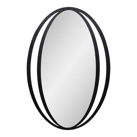 Moes Home Reflect Mirror Black in Black