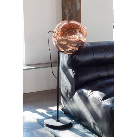 Moes Home Reverb Floor Lamp in Copper