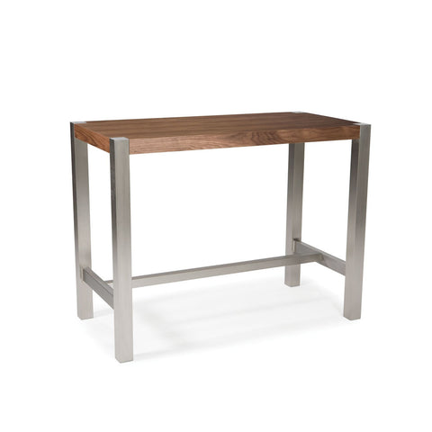 Moes Home Riva Rectangular Counter Height Table in Walnut