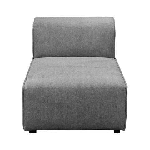 Moes Home Rodeo Chaise in Charcoal Grey