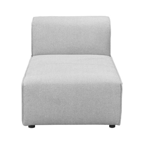 Moes Home Rodeo Chaise in Light Grey