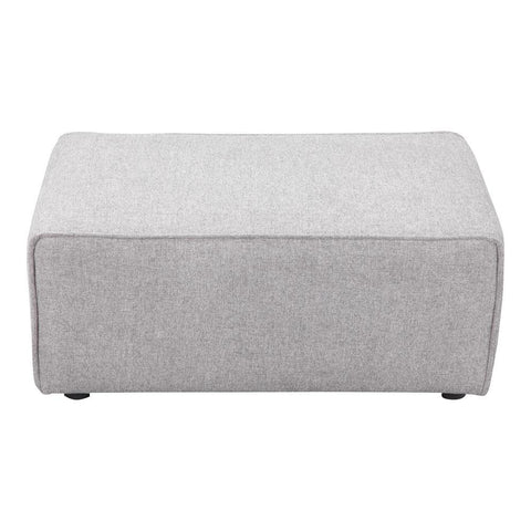 Moes Home Rodeo Ottoman in Light Grey