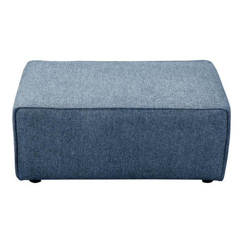 Moes Home Rodeo Ottoman in Navy Blue