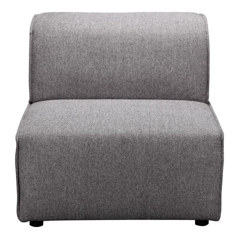 Moes Home Rodeo Slipper Chair in Charcoal Grey