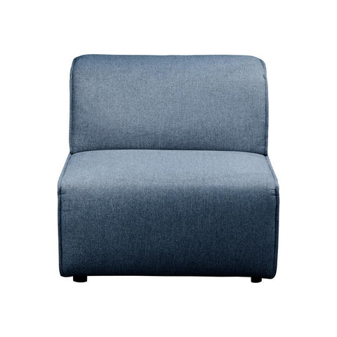 Moes Home Rodeo Slipper Chair in Navy Blue