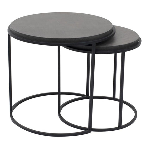 Moes Home Roost Nesting Tables in Black - Set Of 2