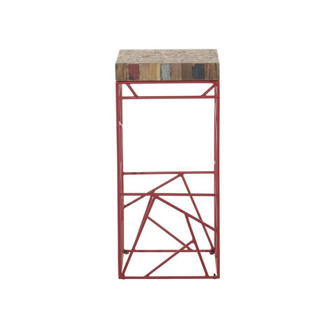 Moes Home Rubic Barstool in Red