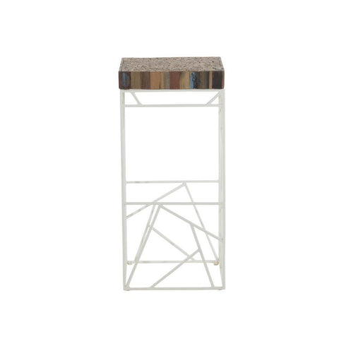 Moes Home Rubic Barstool in White