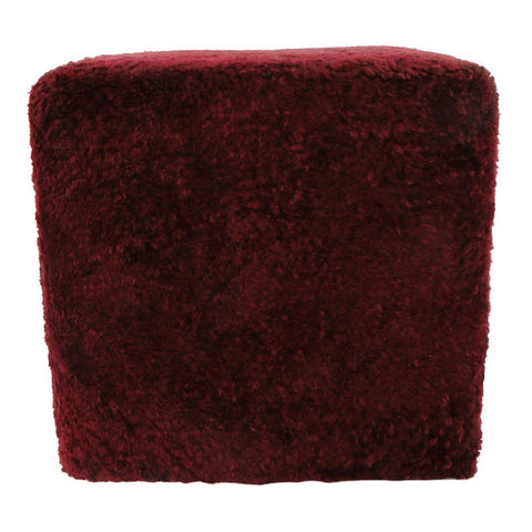 Moes Home Shepherd Wool Stool in Ox Blood