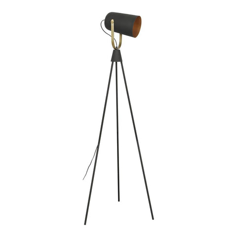 Moes Home Spotlight Floor Lamp in Black