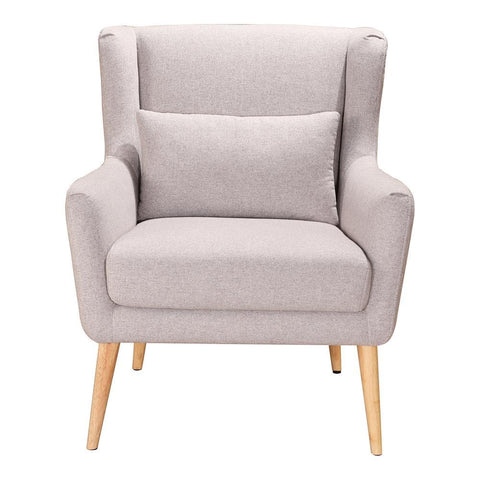 Moes Home Stol Arm Chair in Light Grey